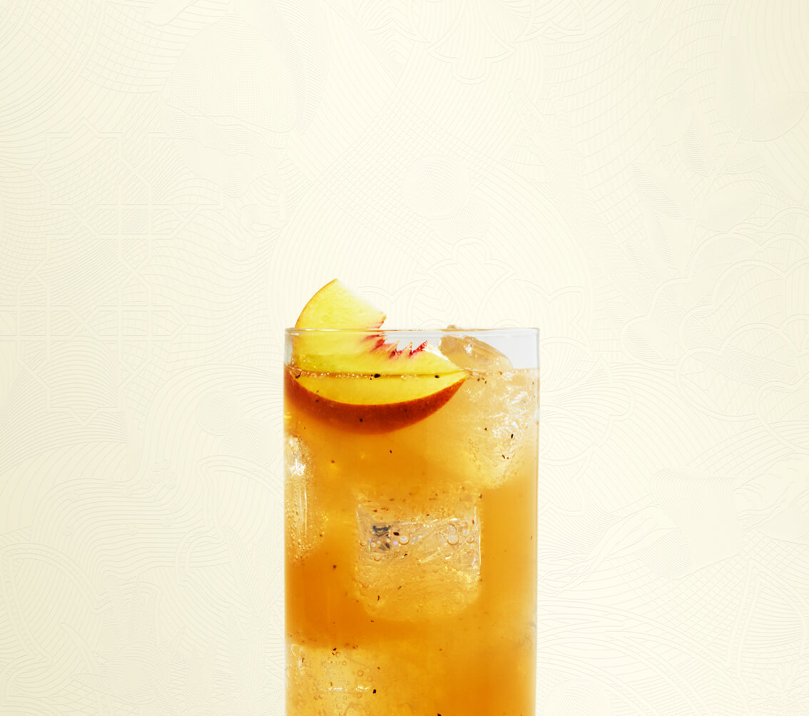 Peppered Peach Tea Tom Collins
