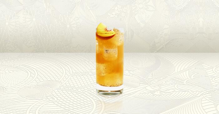 Peppered Peach Tea Tom Collins recipe